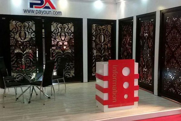 حضور پررنگ درب فلزی پایون در بیست و یکمین نمایشگاه ساختمان و صنایع سرمایشی و گرمایشی مشهد ۹۷