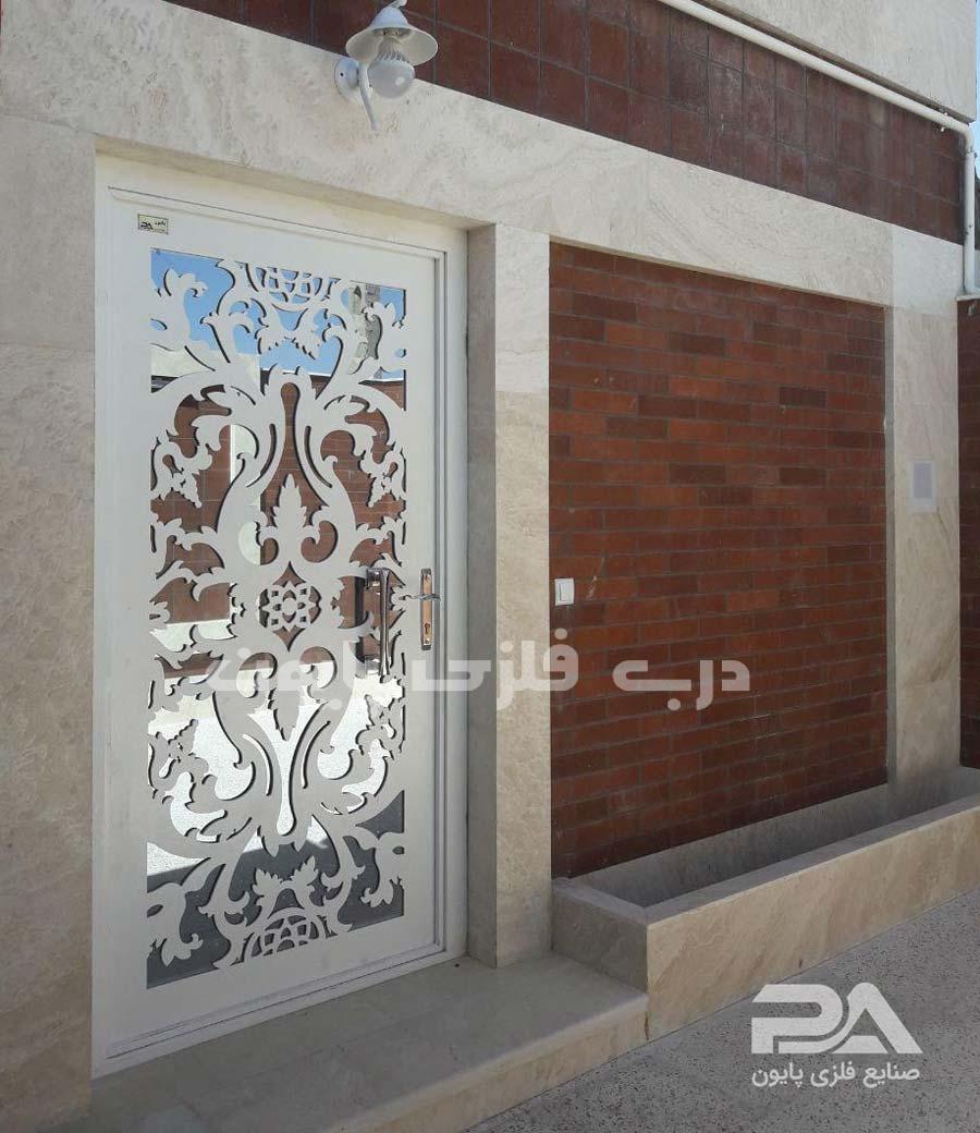 نمونه عکس درب آهنی ورودی ساختمان مسکونی ، جدید و شیک