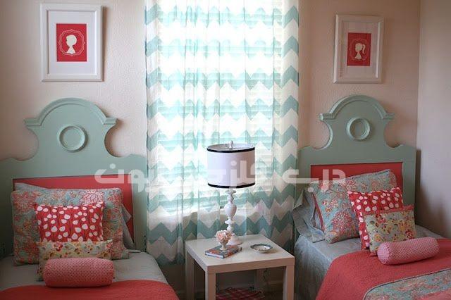 اتاق دختر بچه ها به رنگ مرجانی و یا گلبهی