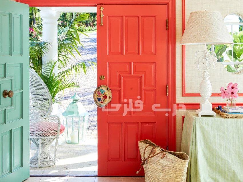 استفاده از رنگ مرجانی در دکوراسیون منزل