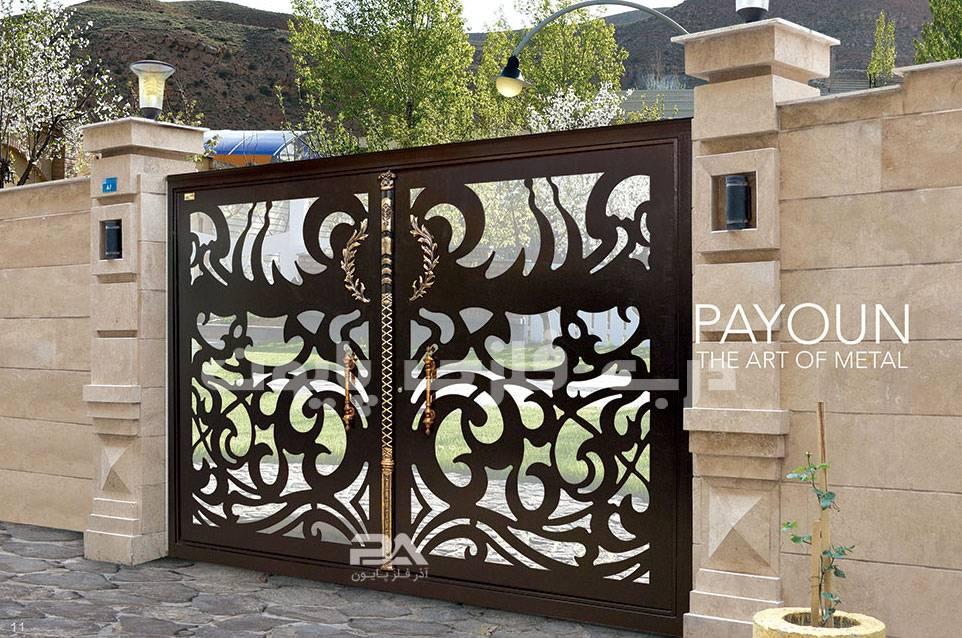 نمونه ترکیب رنگ درب فلزی ورودی حیاط، باغ،ویلا،پارکینگ
