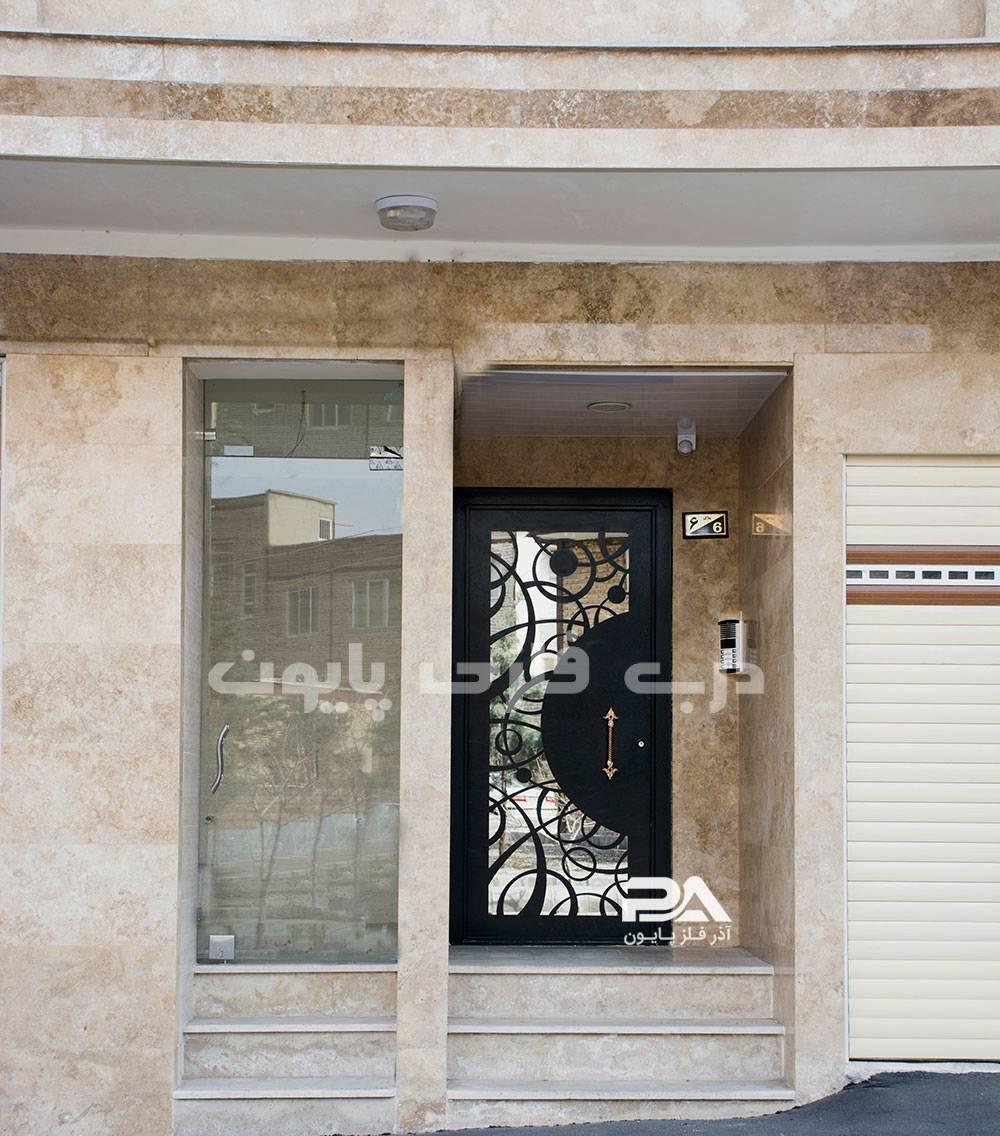 مدل جدید درب حیاط آهنی،درب ساختمان،درب آپارتمان ساده، جذاب و شیک