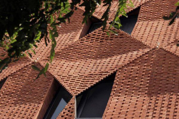 ساختمان مسکونی سایه پود نوگرا ترین ساختمان آجری تهران