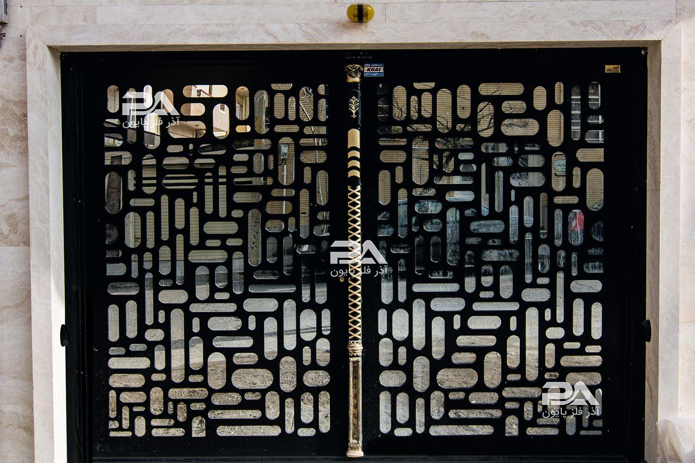 طرح و نمونه درب حیاط و پارکینگ - درب های آهنی مدرن جذاب و شیک