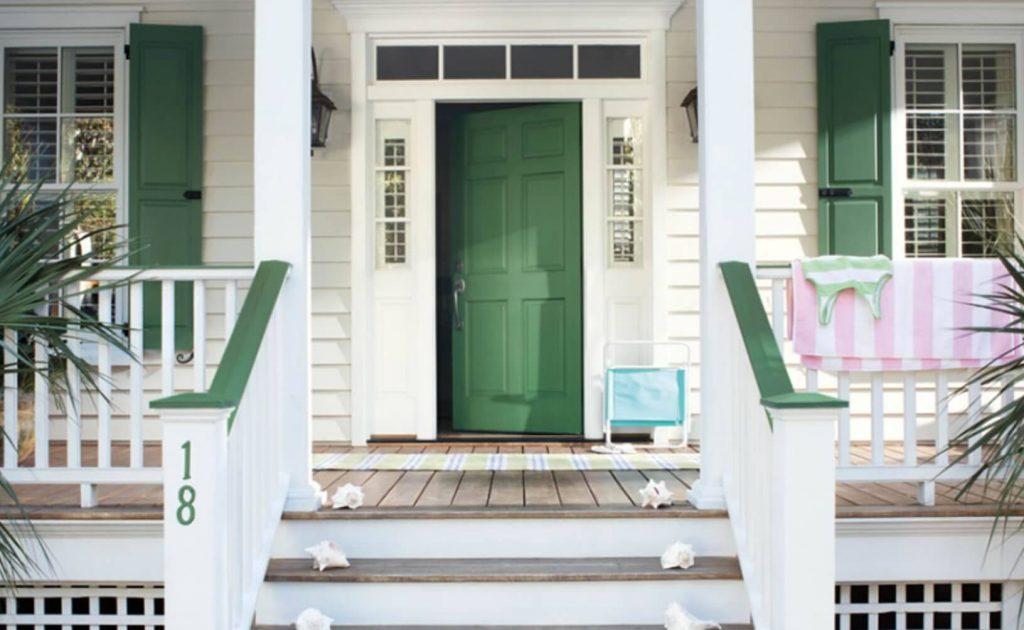 رنگ درب ورودی منزل سبز روشن