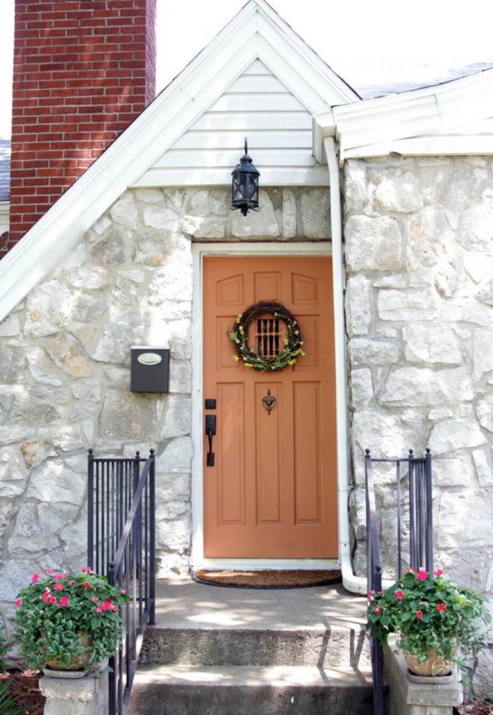 رنگ های گرم برای درب ورودی - رنگ هلویی
