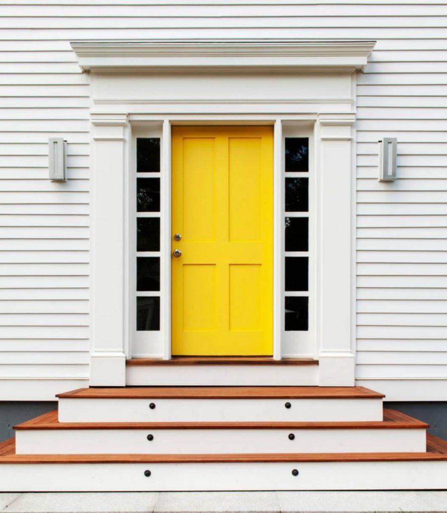 رنگ های گرم برای درب ورودی - رنگ زرد