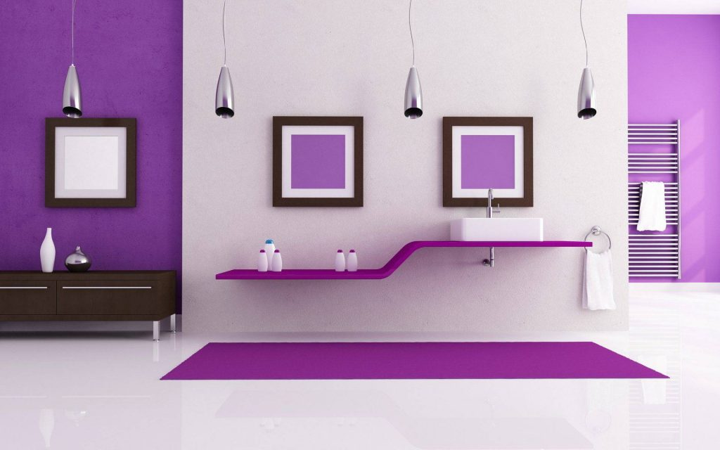 رنگ بنفش در دکوراسیون داخلی منزل نقش لوکس بودن را ایفا میکند