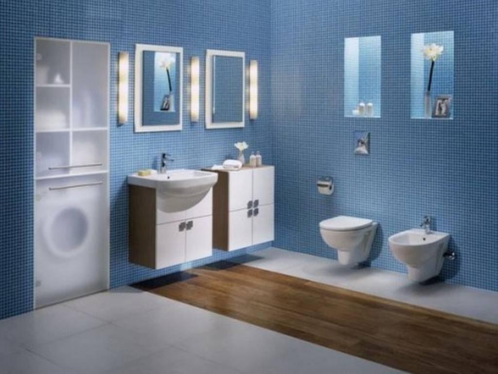 دکوراسیون فضای داخلی خانه با رنگ آبی