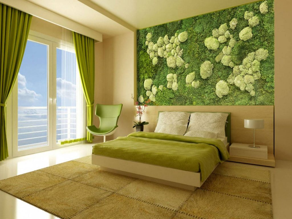 رنگ سبز در دکوراسیون داخلی نقش طراوت و تازگی است