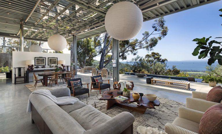 خانه ویلایی جدید ناتالی پورتمن با طراحی خیره کننده در سانتا باربارا
