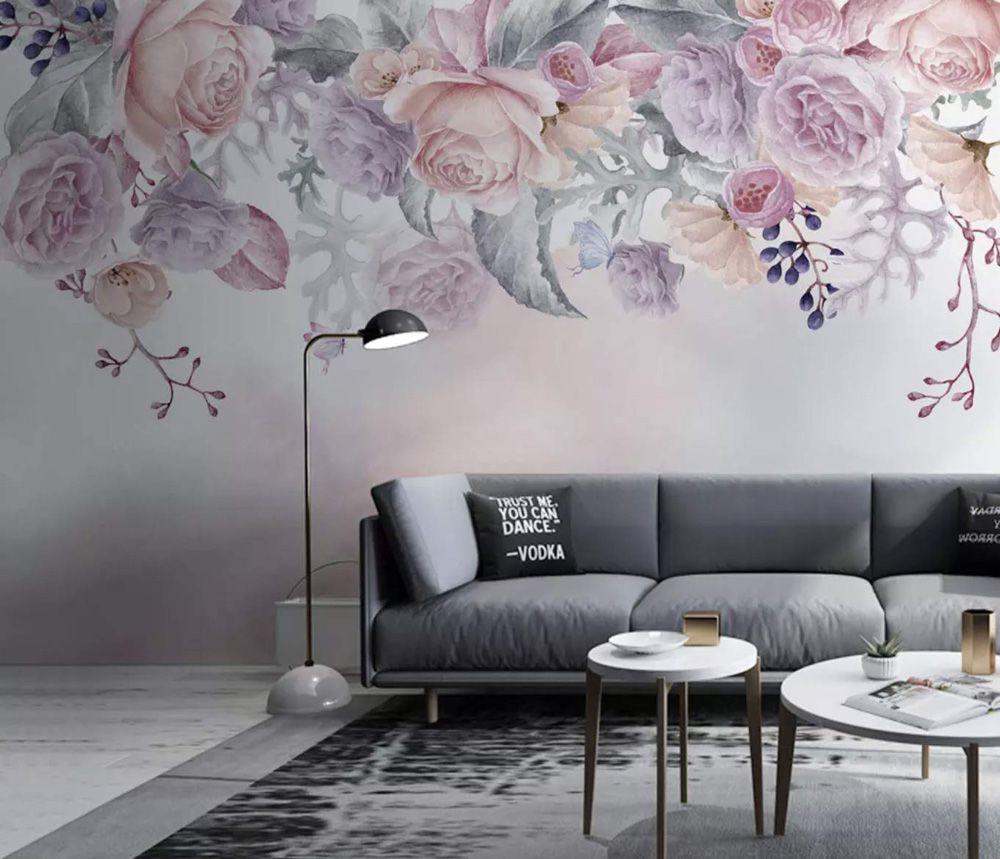 کاغذ دیواری گل دار، طرح های لطیف برای فضاهای مختلف خانه