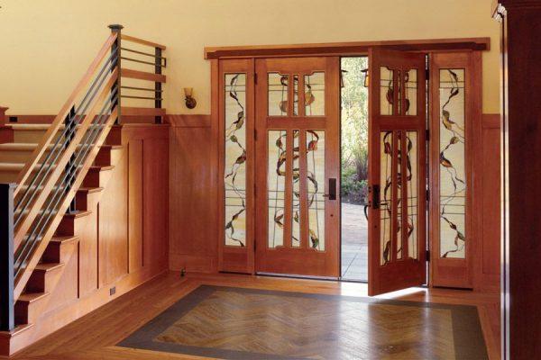 ایده های زیبا برای طراحی درب های ساختمانی چوبی ورودی و داخل ساختمان