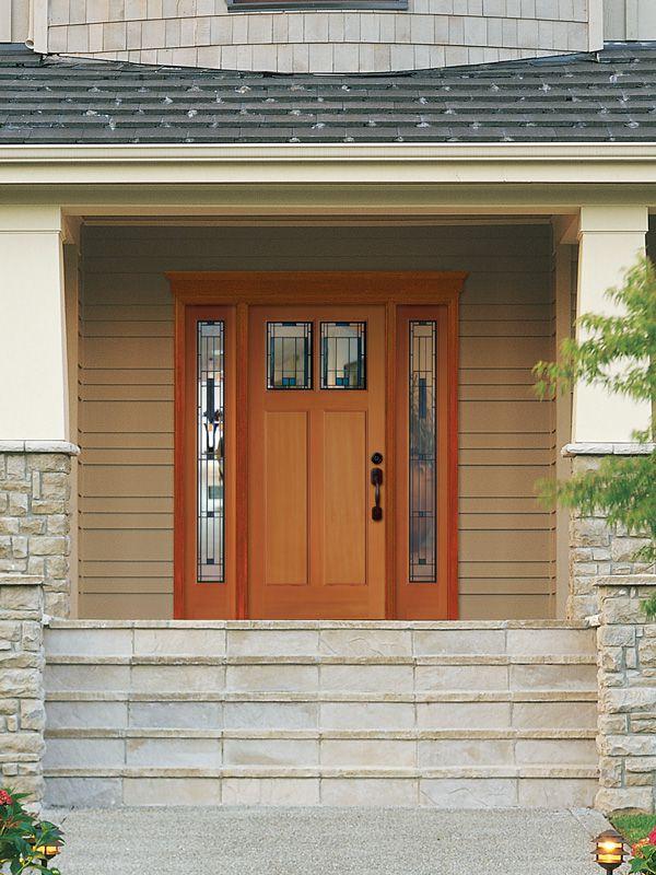 ایده های مدرن برای درب های ساختمانی چوبی