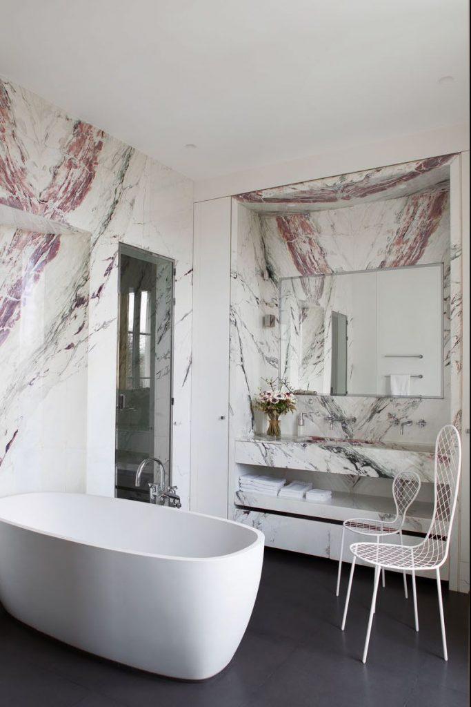 طراحی دکوراسیون حمام با رنگ های گرم