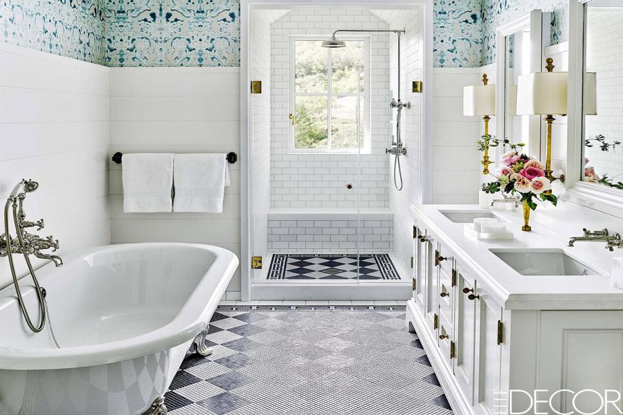 سرامیک کف و دیوار حمام با دکوراسیون زیبا و مدرن