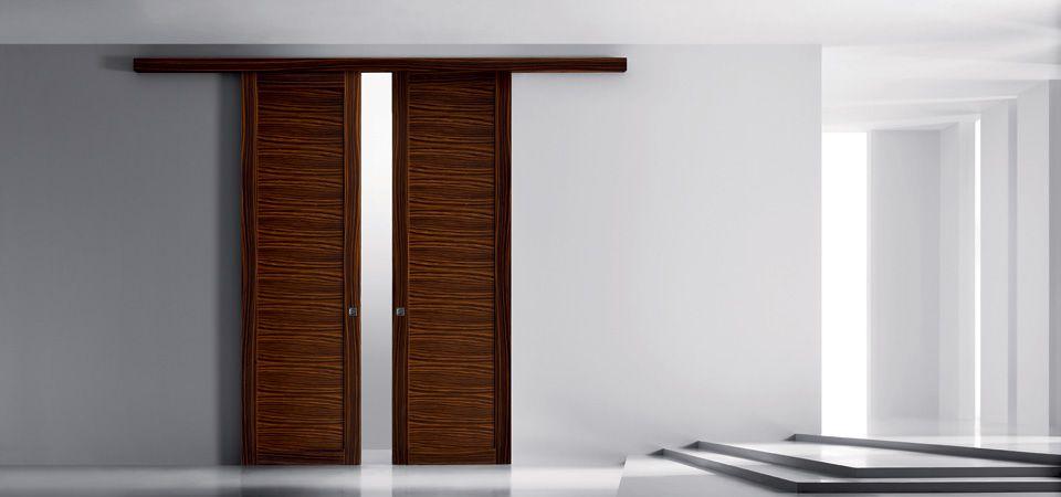 مدل درب کشویی و یا ریلی مدرن و جذاب در ساختمان