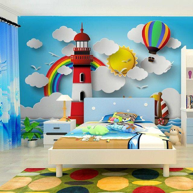 استفاده از کاغذ دیواری برای دکوراسیون اتاق کودک