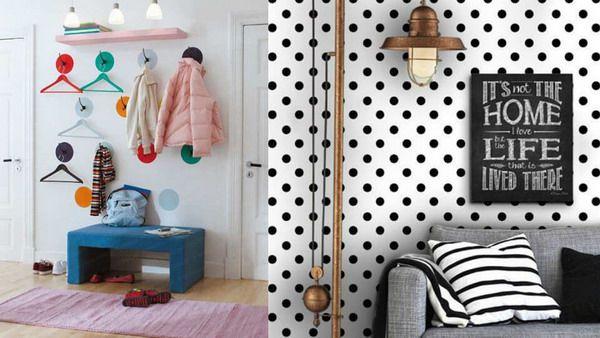 استفاده از طرح های خالدار مینیمالیستی دکوراسیون منزل
