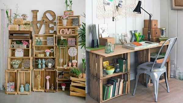 ایده خلاقانه و جالب برای تزیین منزل - جعبه های چوبی