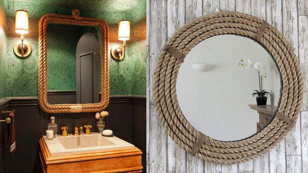 تزیین خاص و زیبای آینه در دکوراسیون منزل