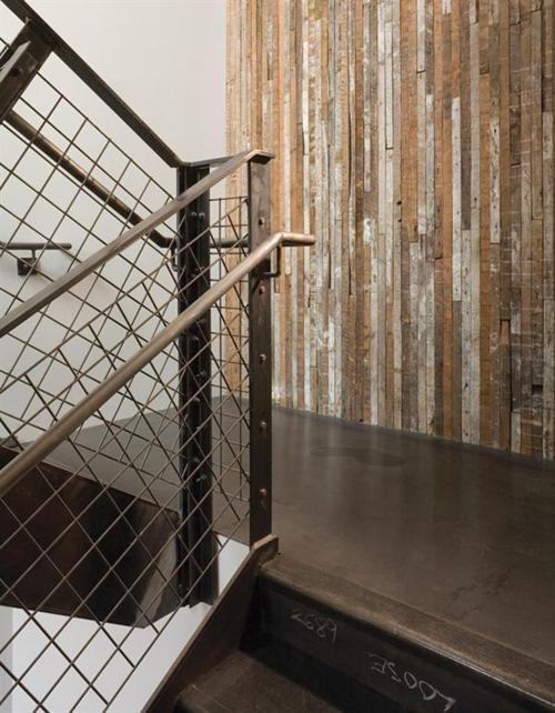 مدل دیوارپوش چوبی برای راه پله