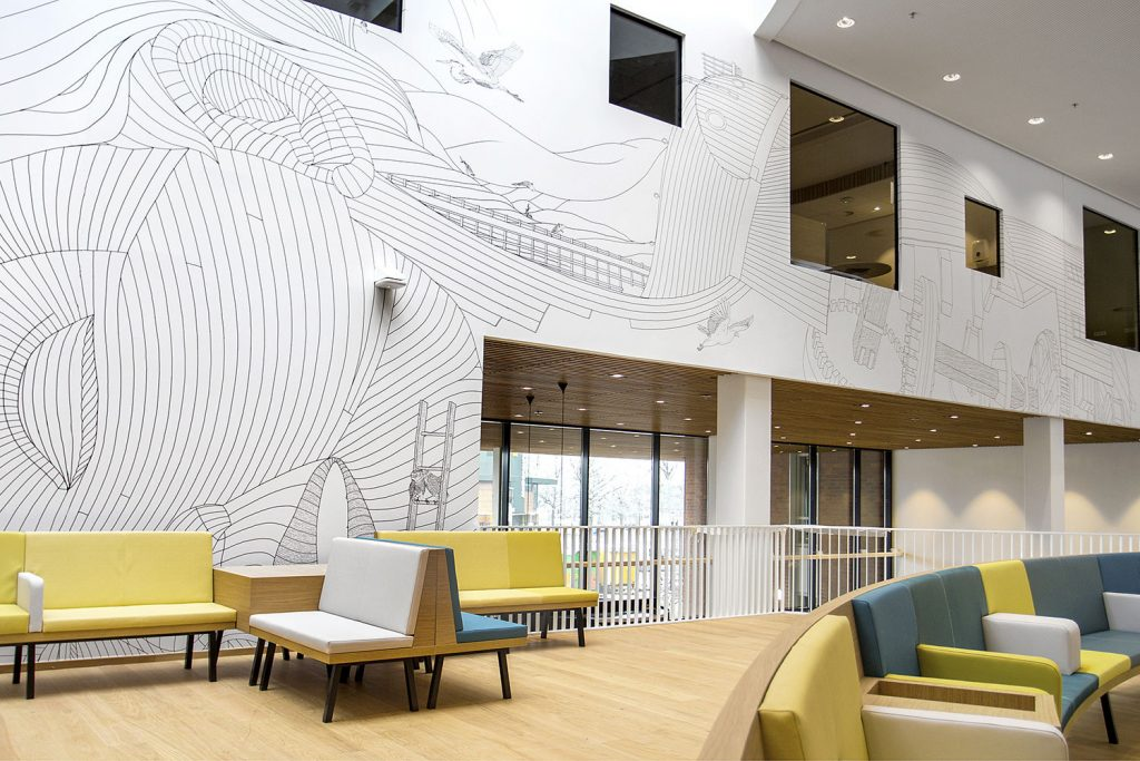 ایده های جذاب برای دیوارپوش های ساختمان با استفاده از پارچه ها