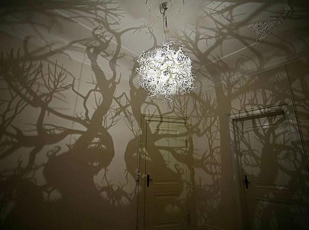 لوستر اتاق خواب متفاوت