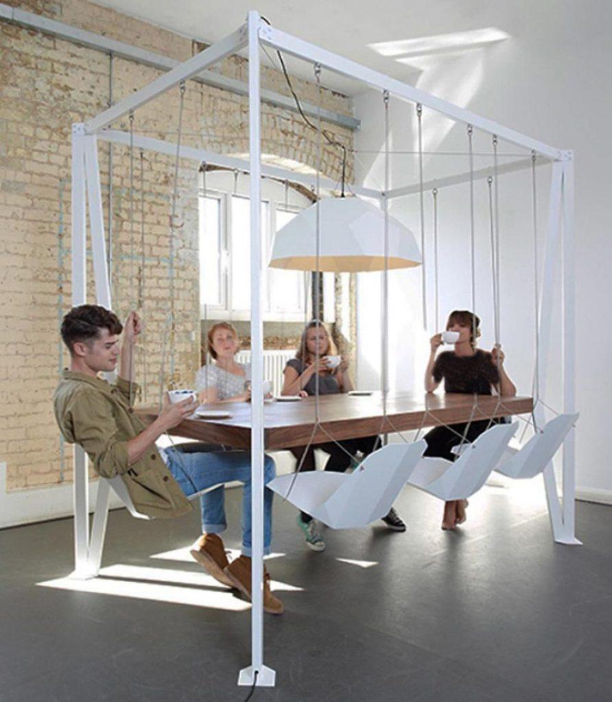 صندلی های شکل تاب