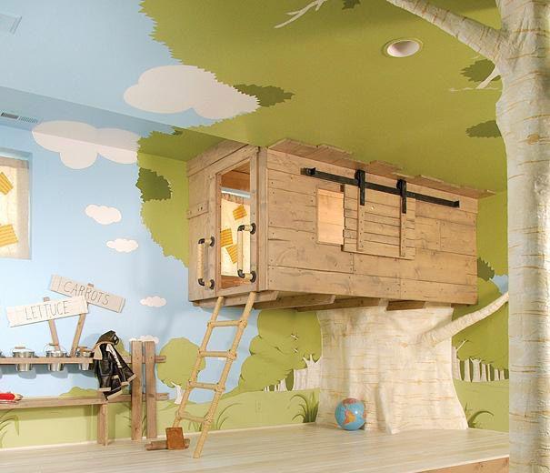خلاقیت خانه درختی در اتاق خواب