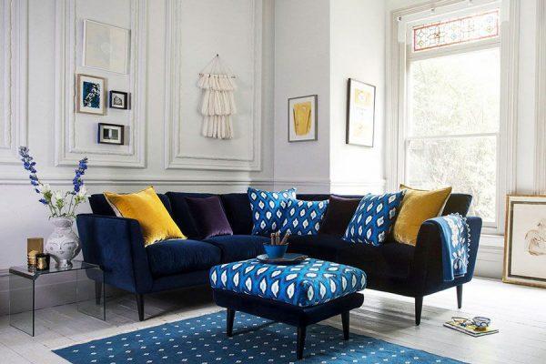 ترکیب رنگ های آبی و زرد برای طراحی دکوراسیون خانه