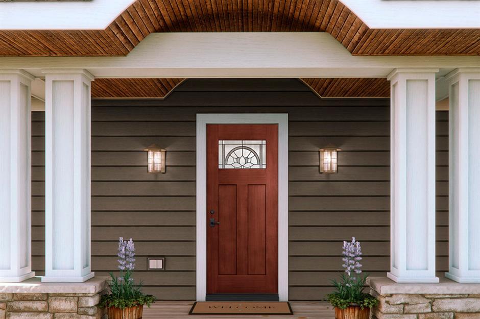 تزیین درب ورودی ساختمان