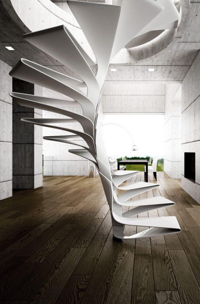 طراحی پلکانهای مارپیچ برای ساختمان