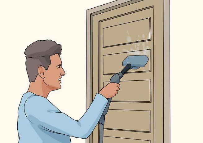تمیز کردن درب ساختمان