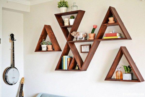 طراحی دکوراسیون داخلی خلاقانه با نصب قفسه های دیواری