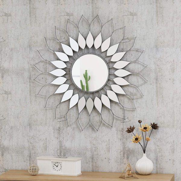 آینه های تزئینی در مدل گل های آفتابگردان
