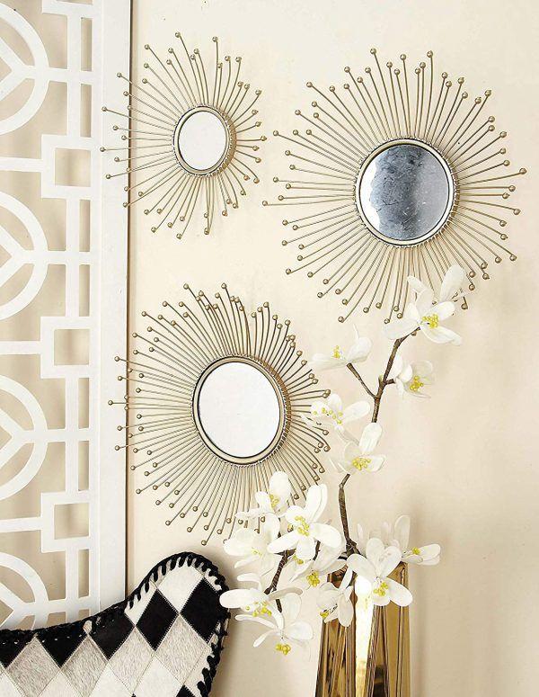 آینه های تزئینی با مدل پرچم های گل