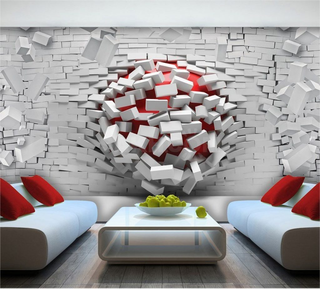 کاغذ دیواری سه بعدی یک انتخاب حرفه ای برای دکوراسیون داخلی