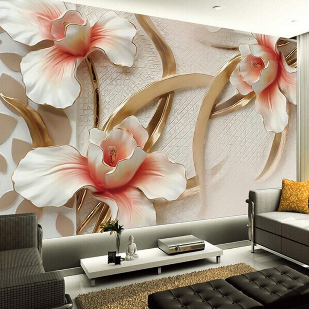 انواع طرح های کاغذ دیواری سه بعدی