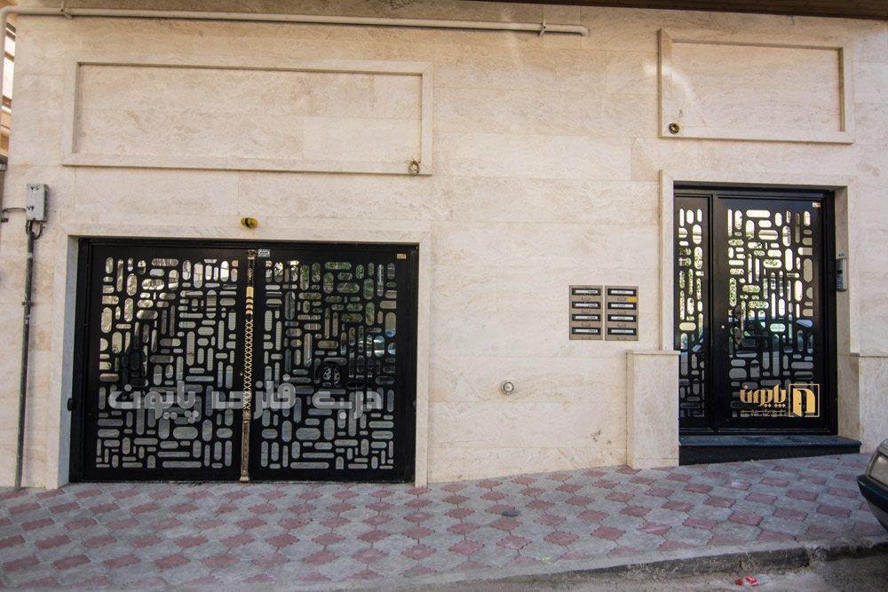 طرح درب فلزی جدیدورودی آپارتمان و ساختمان