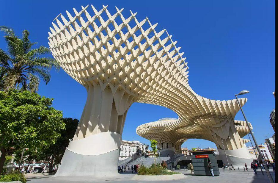 معماری Metropol Parasol در اسپانیا