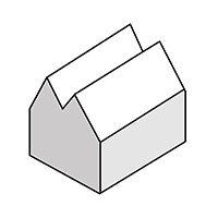 سقف ساختمان به شکل حرف M