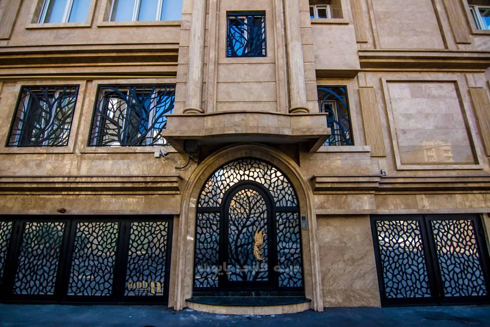 مدل درب فلزی ورودی ساختمان ظریف