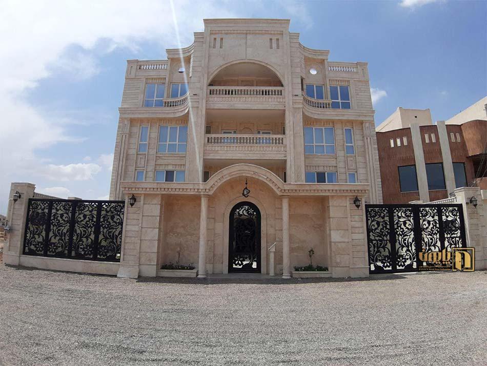 درب ورودی و درب پارکینگ ویلایی در یزد