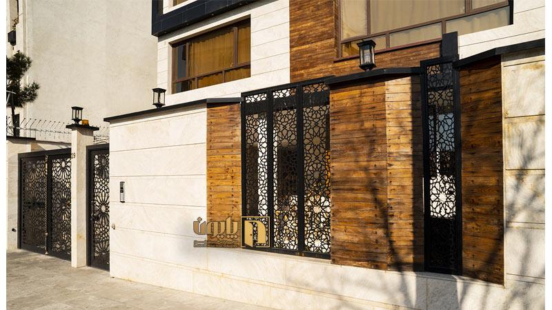 حفاظ فلزی در نمای ساختمان