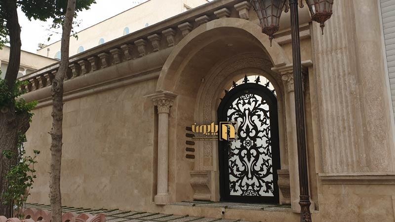 درب فلزی لوکس ساختمان شیراز