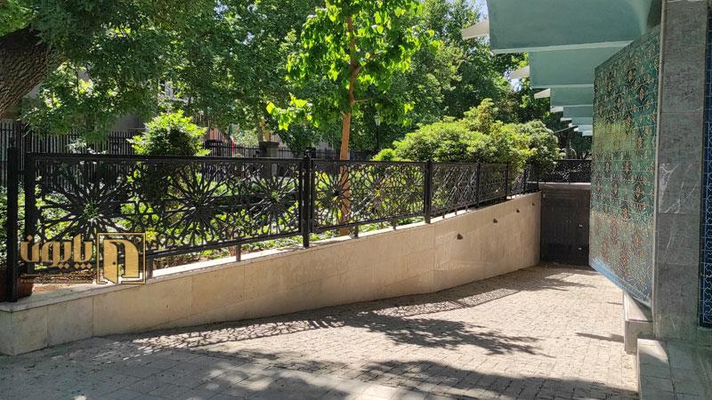 حفاظ دیوار در پارک شهر تهران