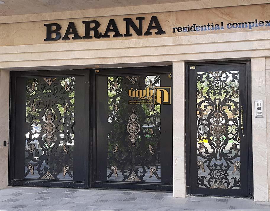 درب فلزی cnc برای ورودی آپارتمان در مشهد